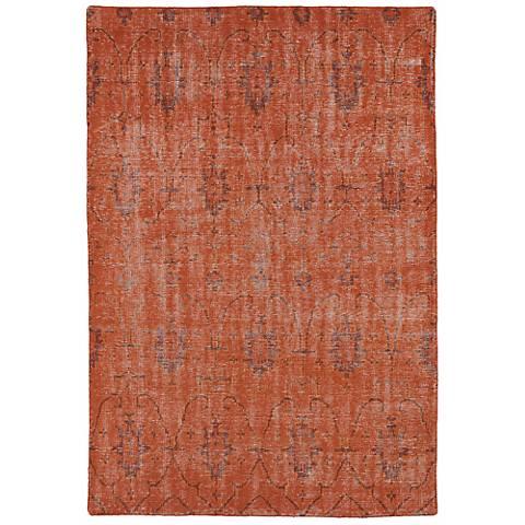 Kaleen Restoration RES01-31 Pumpkin Wool Area Rug