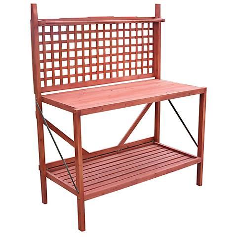 Petaluma Natural Outdoor Folding Potting Bench
