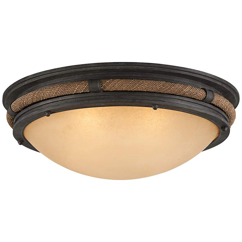 "Pike Place 28"" Wide Shipyard Rope Ceiling Light"
