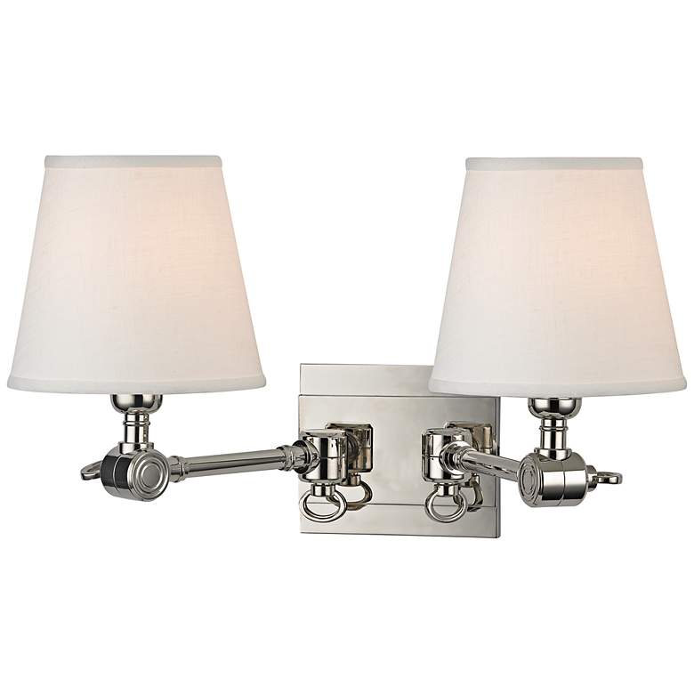 """Hudson Valley Hillsdale 18"""" Wide Polished Wall Sconce"""