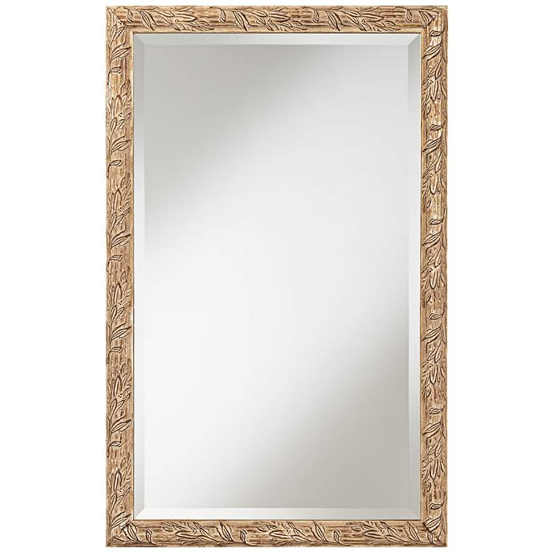 """Brianne Silver Leaf 20 3/4"""" x 32 3/4"""" Wall Mirror"""