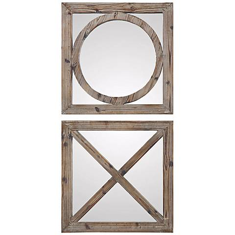 """Uttermost 2-Piece Baci E Abbracci 18"""" Square Wall Mirror Set"""