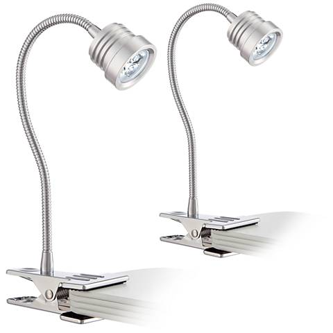 Tyler Collection Gooseneck Large LED Clip Light Set of Two