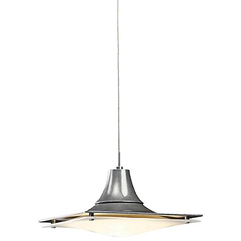 "Hood Collection 10"" Wide Vintage Platinum Mini Pendant Light"