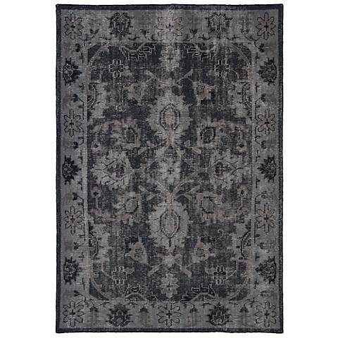 Kaleen Restoration RES02-02 Black Wool Area Rug