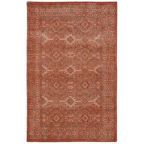 Kaleen Restoration RES04-53 Paprika Wool Area Rug