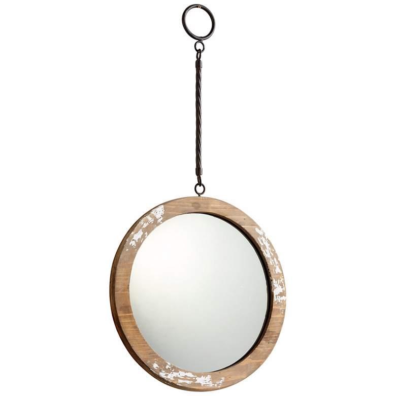 "Thru the Looking Glass 9"" Round Antique White"