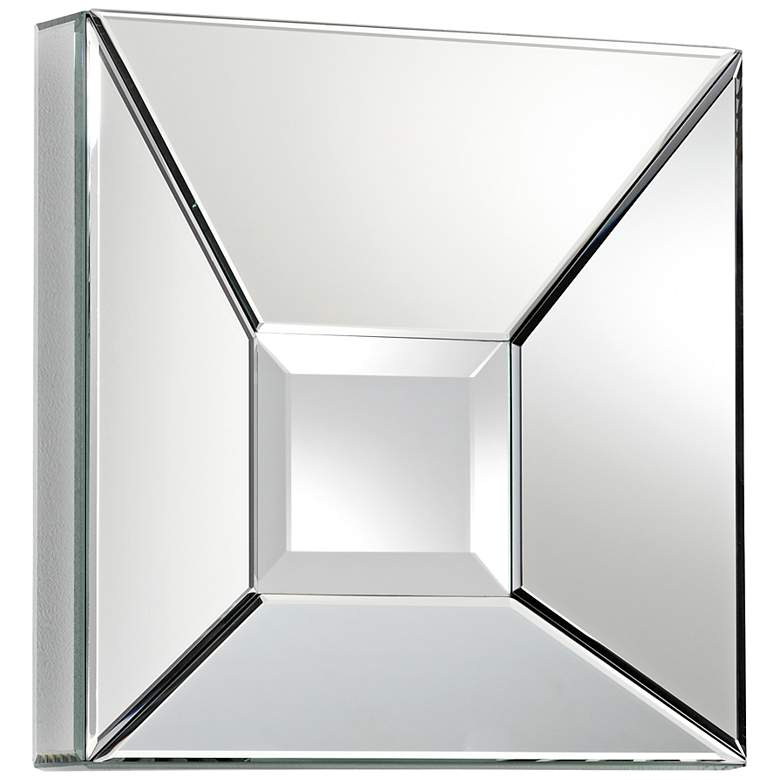 "Pentalloca 15 3/4"" Square Shadow Box Wall Mirror"
