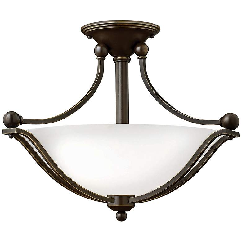 "Hinkley Bolla 19 1/4"" High Olde Bronze Opal Ceiling Light"