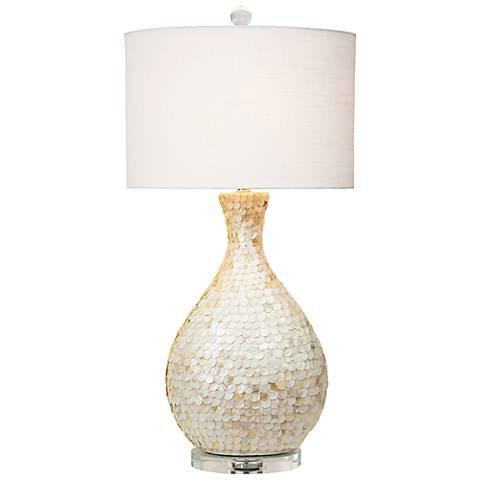 Couture la pearla mother of pearl table lamp 5n860 lamps plus couture la pearla mother of pearl table lamp aloadofball Images