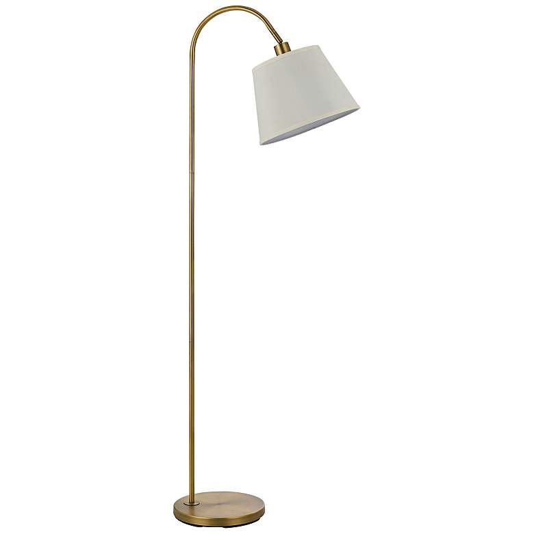 Covington Antique Brass Metal Down Bridge Floor Lamp