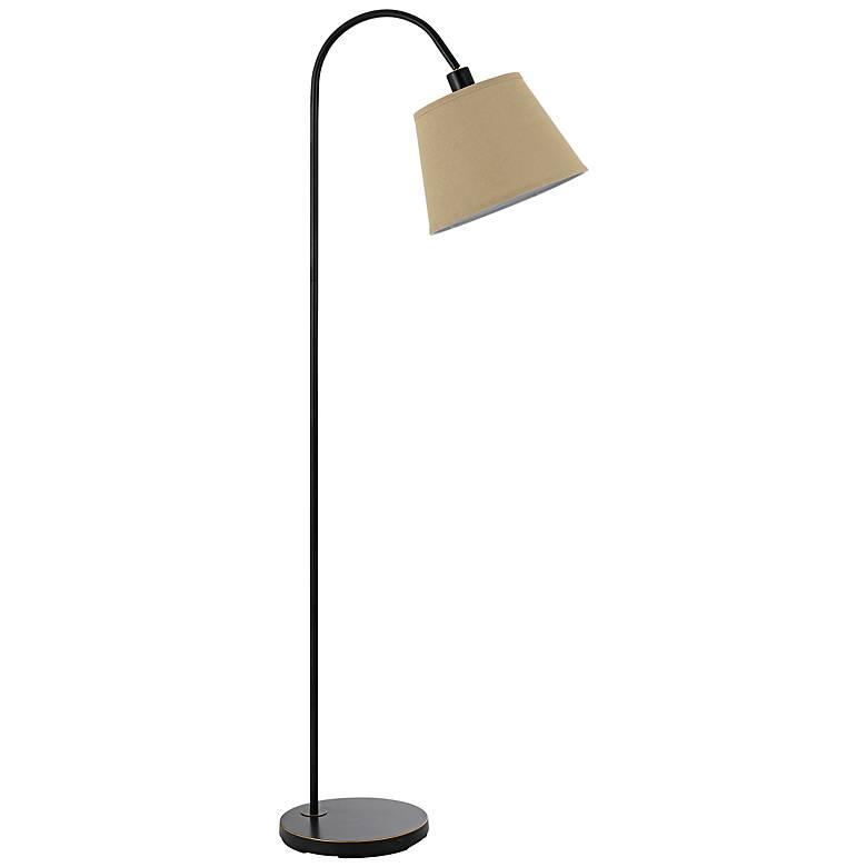 Covington Dark Bronze Metal Down Bridge Floor Lamp