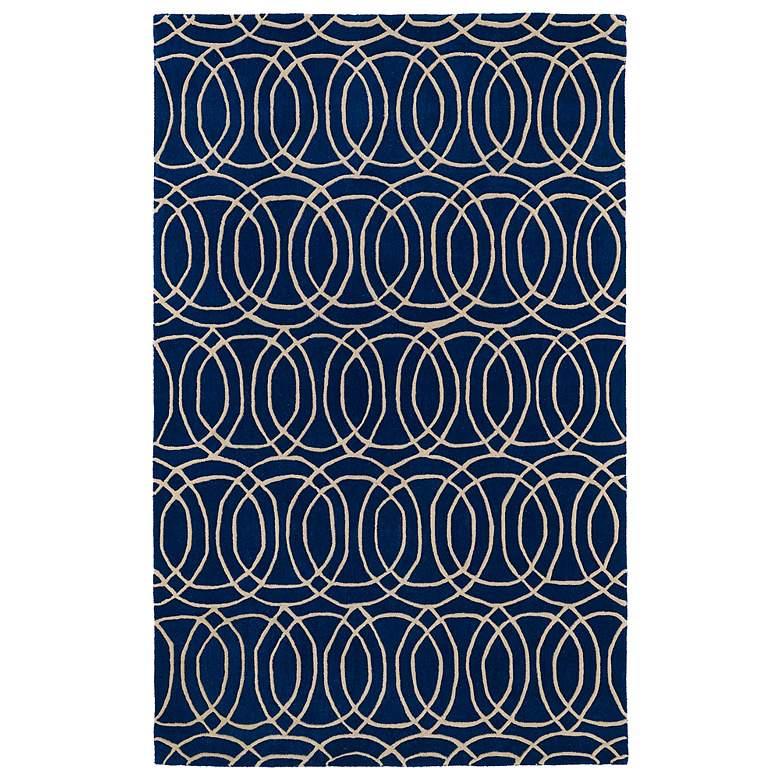 "Kaleen Revolution REV02-22 5'x7'9"" Navy Wool Area Rug"