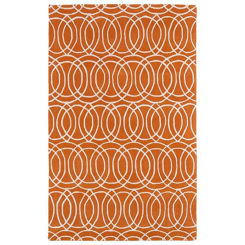 "Kaleen Revolution REV02-89 5'x7'9"" Orange Wool Area Rug"