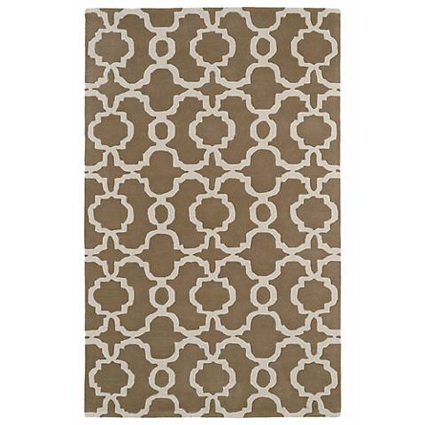 Kaleen Revolution REV03-82 Light Brown Wool Area Rug
