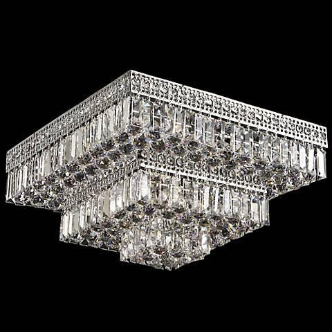 Berlin 21 square flush mount crystal ceiling light 5p012 lamps berlin 21 square flush mount crystal ceiling light mozeypictures Images