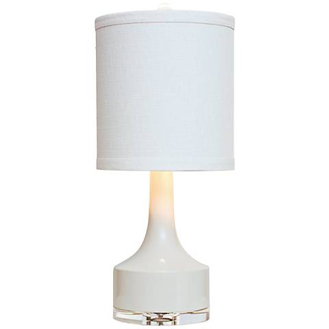 Couture Holmby Glossy Cream Ceramic Table Lamp
