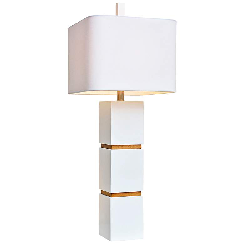Couture Wilshire High Gloss White Table Lamp