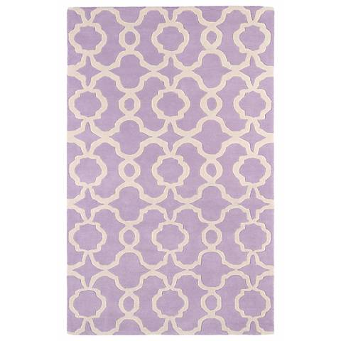 Kaleen Revolution REV03-90 Lilac Wool Area Rug
