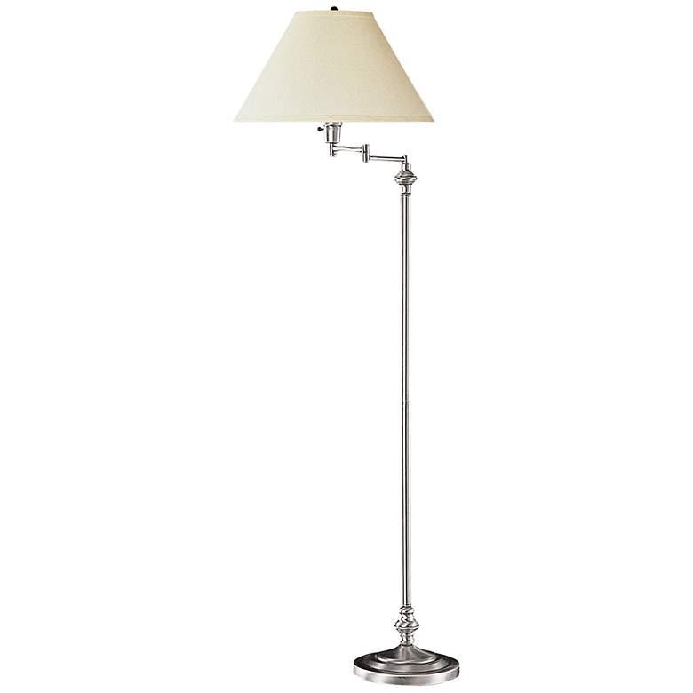 Bellhaven Brushed Steel Swing Arm Floor Lamp