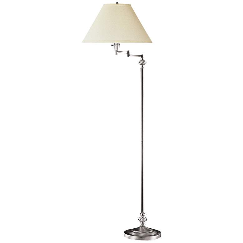 Bellhaven Brushed Steel Swing Arm Floor Lamp
