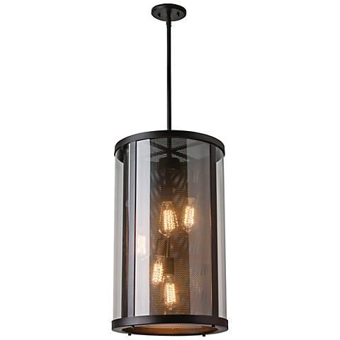"""Feiss Bluffton 24 3/4"""" High Bronze Outdoor Hanging Light"""