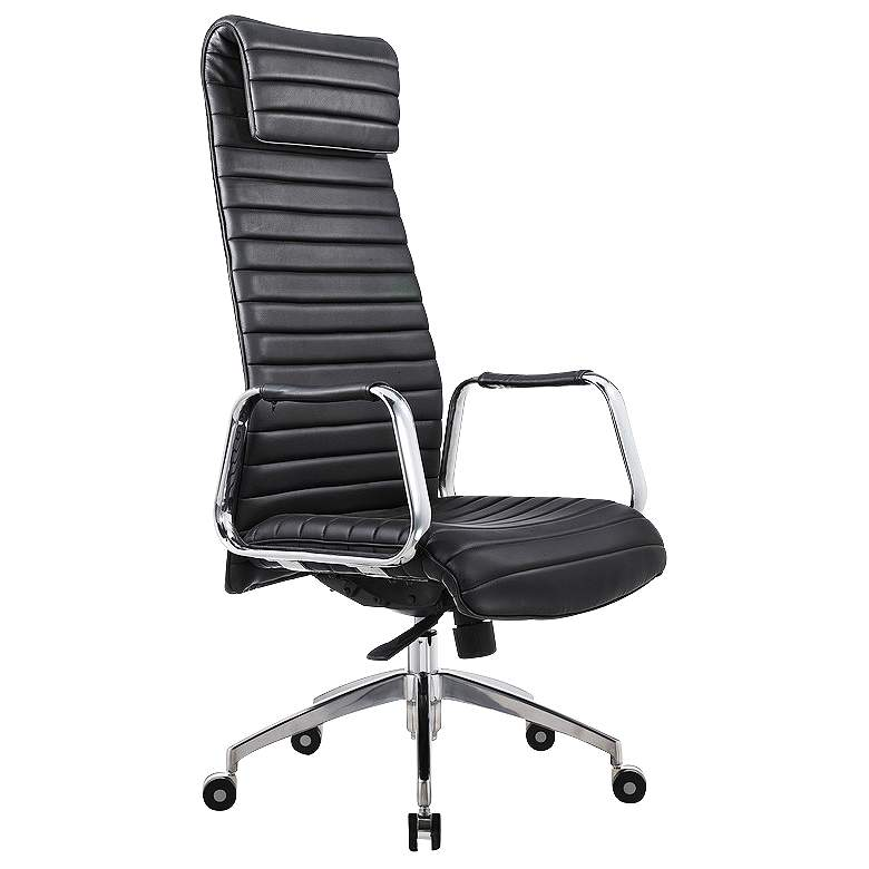 Oxford Executive Black Faux Leather Office Chair