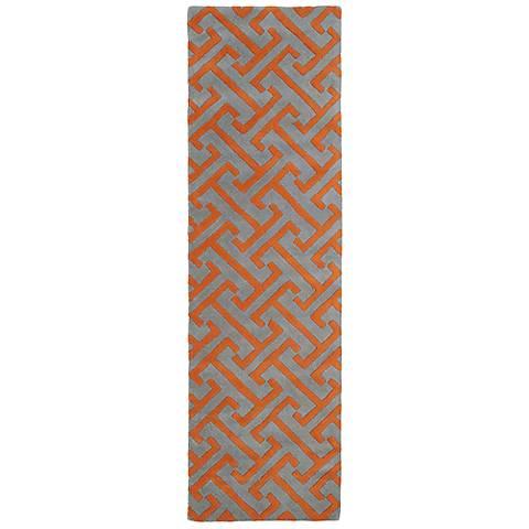 Kaleen Revolution REV04-75 Gray Wool Area Rug