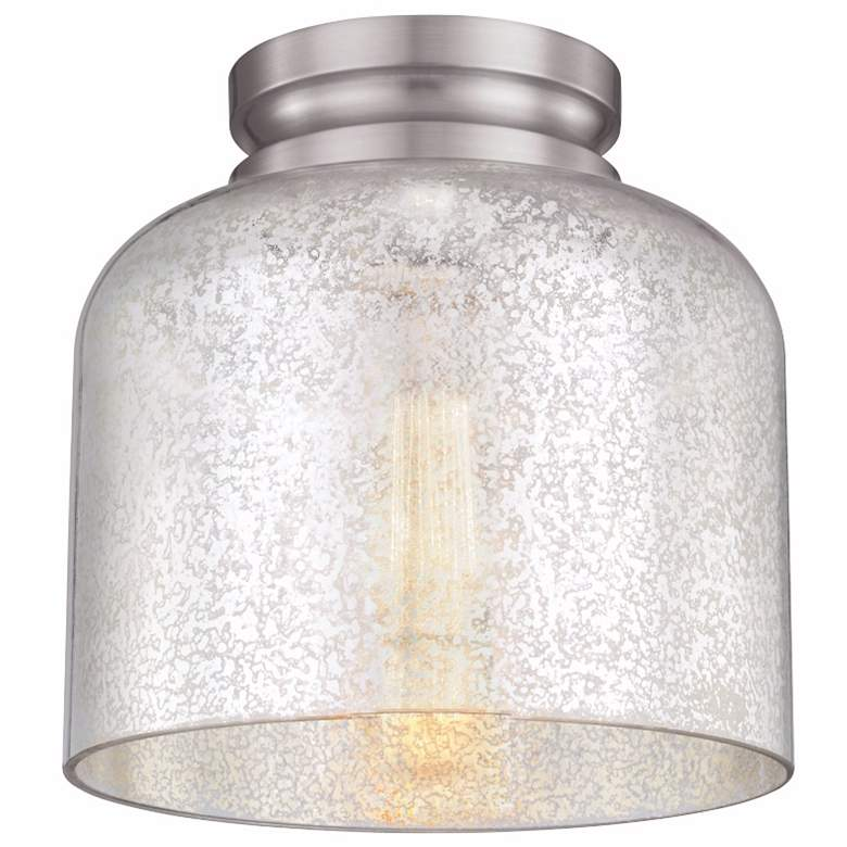 """Feiss Hounslow 9"""" High Steel and Plated Glass Ceiling Light"""