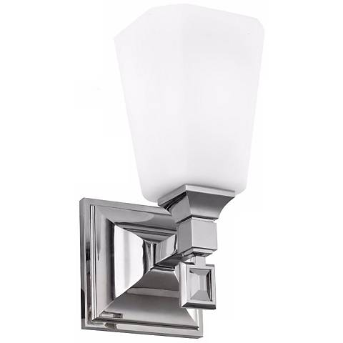 "Feiss Sophie 9 1/2"" High Polished Nickel Wall Sconce"