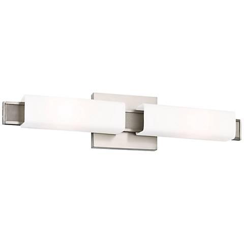 "Feiss Talia 22"" Wide Brushed Steel Bath Light"