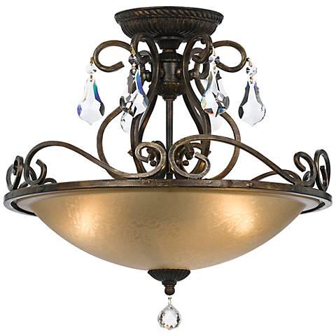 "Crystorama Ashton 16 1/2"" Wide Bronze Ceiling Light"