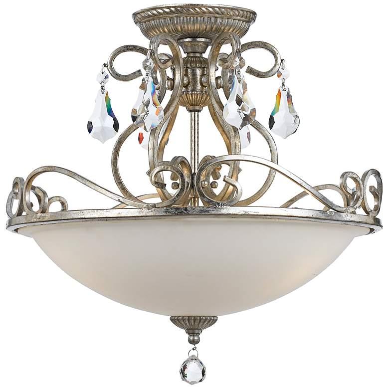 "Crystorama Ashton 16 1/2"" Wide Silver Ceiling Light"