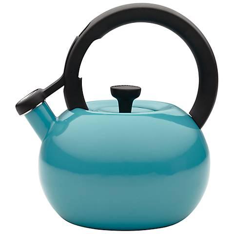 Circulon Circles 2-Qt Capri Turquoise Blue Tea Kettle