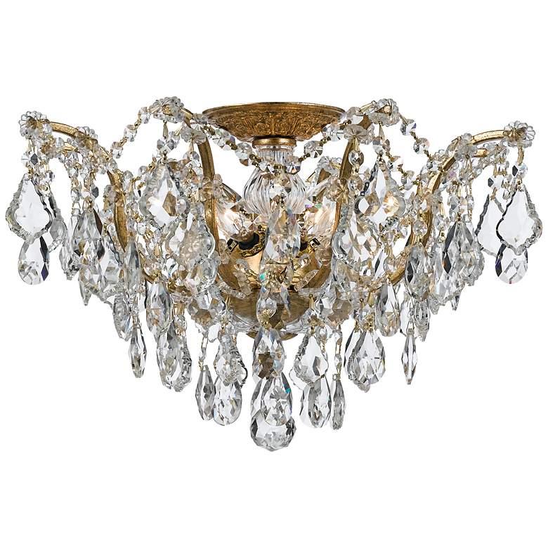 "Crystorama Filmore 19"" Wide Antique Gold Ceiling Light"