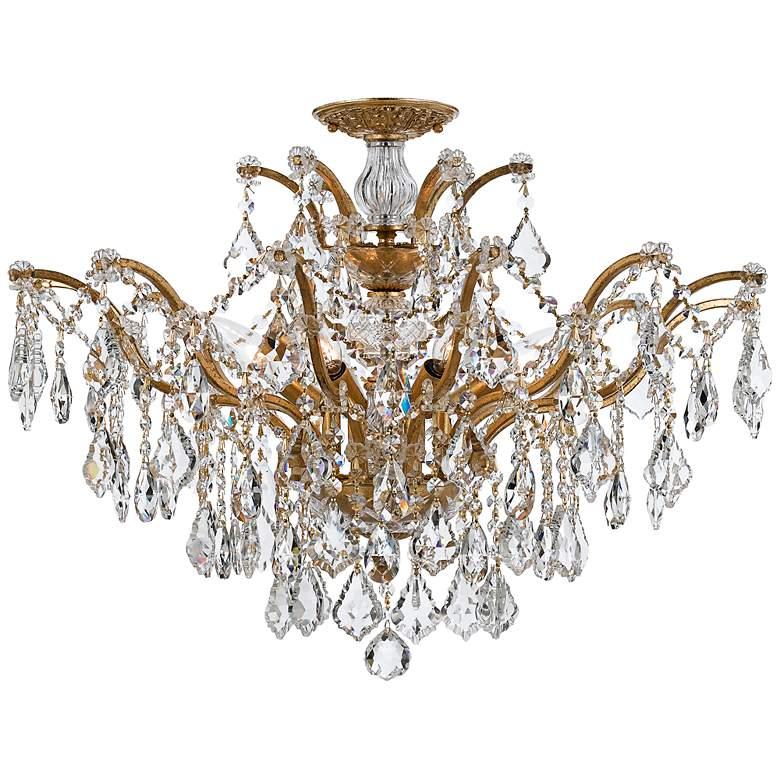 "Crystorama Filmore 27"" Wide Antique Gold Ceiling Light"