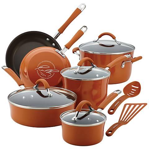 Rachael Ray Cucina 12-Piece Orange Cookware Set