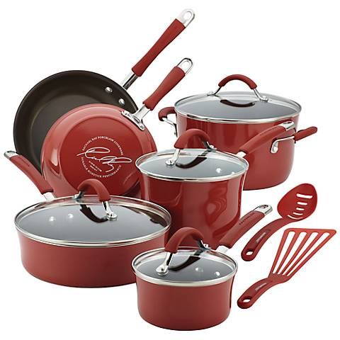 Rachael Ray Cucina 12-Piece Red Cookware Set