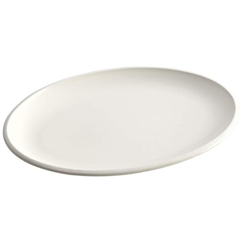"Rachael Ray Rise 9""x13"" White Oval Platter"
