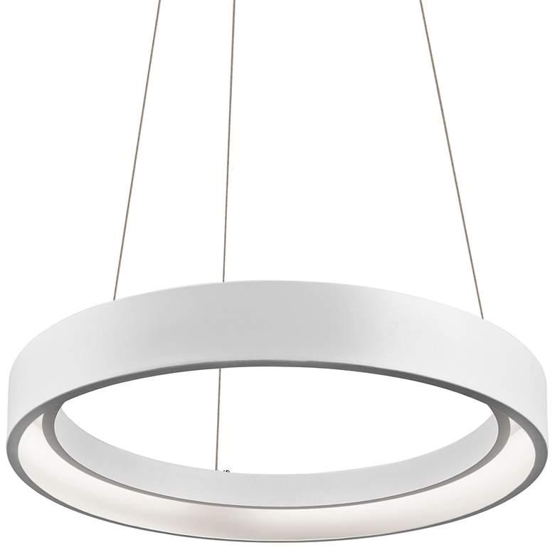 "Elan Fornello 17 3/4"" Wide Dimmable LED White Pendant Light"