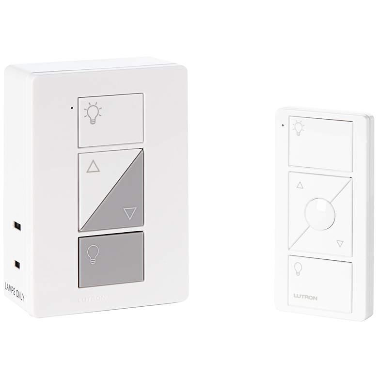 Caseta White Wireless Remote Plug-In Lamp Dimmer Kit
