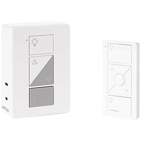 Caseta White Wireless Remote Plug-In Lamp Dimmer Kit