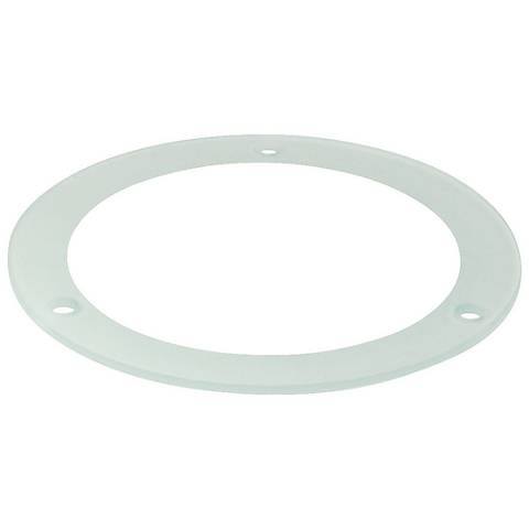 "Nora 4"" Tempered Frosted - Clear Glass Recessed Light Trim"
