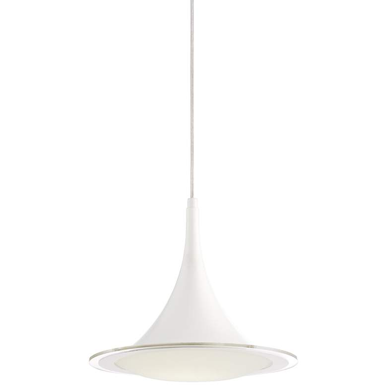 "Possini Euro Ponder 12 1/2"" Wide White LED Pendant Light"