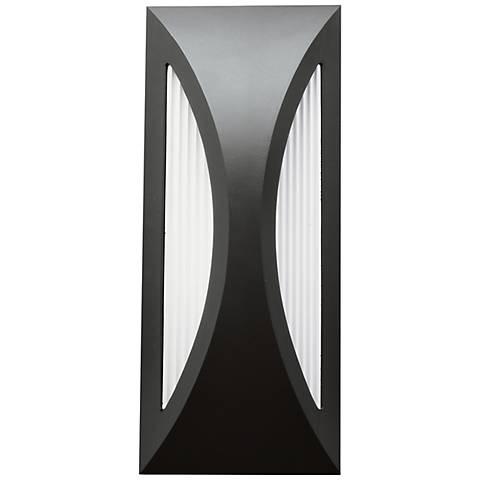"Kichler Ceysa 12"" High Satin Black LED Outdoor Wall Light"