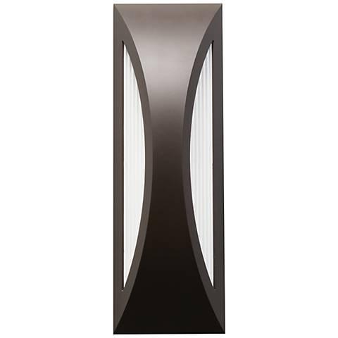 "Kichler Ceysa 18"" High Bronze LED Outdoor Wall Light"