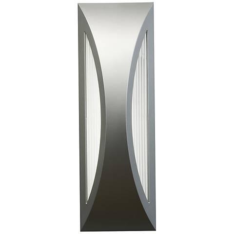 "Kichler Ceysa 18"" High Platinum LED Outdoor Wall Light"