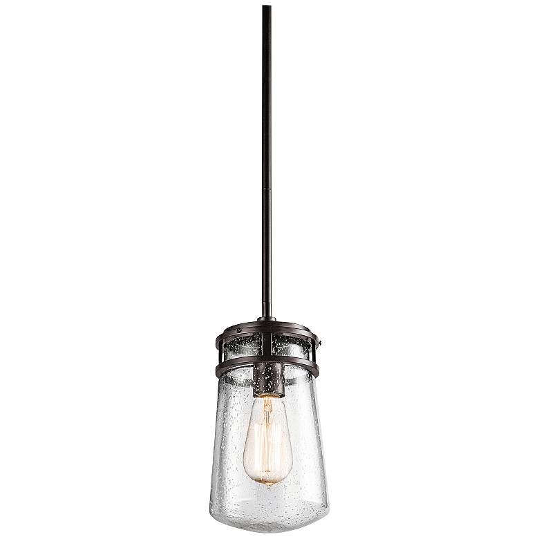 "Kichler Lyndon 11 3/4"" High Seedy Glass Outdoor Pendant"