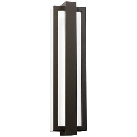 "Kichler Sedo 24 1/4"" High Bronze Outdoor LED Wall Light"