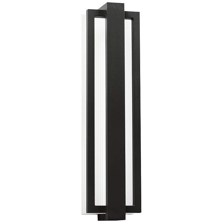 "Kichler Sedo 24 1/4"" High Black Outdoor LED Wall Light"